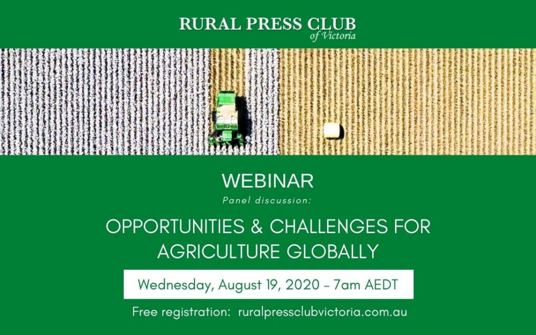 WEBINAR: Opportunities and challenges for agriculture globally