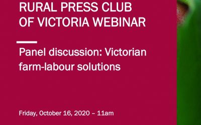 Webinar: Victorian farm-labour solutions
