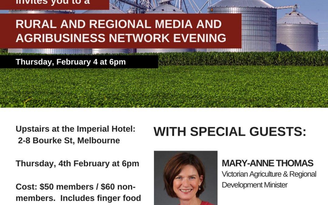 Rural & Regional Media & Agribusiness Network Evening